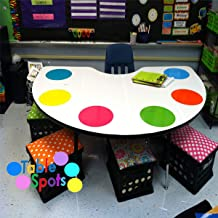 Colorful Dry Erase Dots Circles,Colorful Dry Erase Circles for Classroom Tables Desk,Colorful Dry Erase Dots Circles Whiteboard Marker Removable Vinyl Stickers Wall for Students
