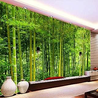 WPFZH 3D Mural Custom Latest Bamboo Wall Paper Living Room TV Sofa Backdrop Wall Mural Nature Landscape Home Decor -280x180cm