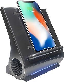 Azpen Dockall D108 Fast Wireless Charging Dock W/Bluetooth Speakers