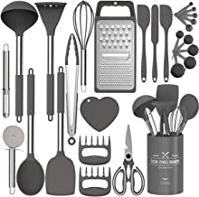 Silicone Kitchen Cooking Utensils Set, Fungun 27 Pcs Kitchen Utensil Set with Stainless Steel Handle - Kitchen Gadgets Coo...