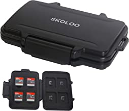 SD Card Case Compact Flash Memory Card Holder Micro Storage & Wallet for Card, Black