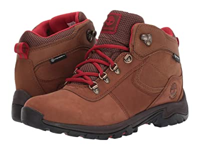 Timberland Mt. Maddsen Mid Leather Waterproof (Rust Nubuck) Women