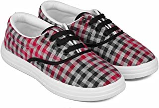 Asian shoes VL-21 Red Women Casual Shoes 6UK/Indian