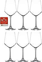RCR Cristalleria Italiana Aria Collection 6 Piece Crystal Wine Glass Set (Universum Wine (18 oz))