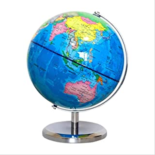 Metal Globe Pure English Middle School Students Can Use Upper and Lower Hemisphere Globe 20CM (Size : 26cm)