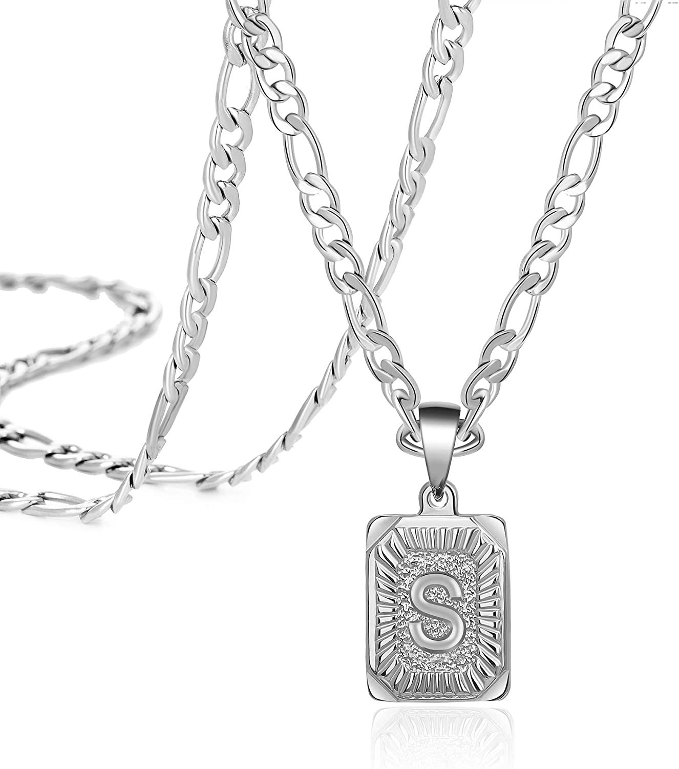 Max 79% OFF Stainless Steel Initial Letter Necklace Max 66% OFF Personalized 26 Pendant