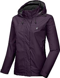 Women's Waterproof Rain Jacket Lightweight Outdoor Windbreaker Rain Coat Shell for Hiking, Travel