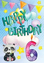 Happy Birthday 6: Keepsake Journal Notebook For Best Wishes, Messages & Doodling