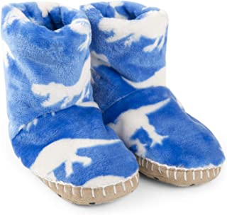 Hatley Boys' Fuzzy Fleece Slouch Slippers
