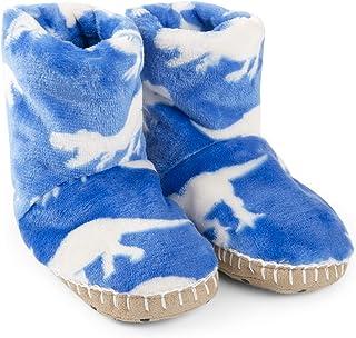 Hatley Boys' Fuzzy Fleece Slouch Slippers
