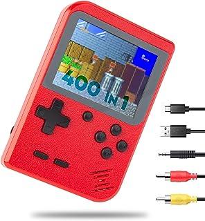 Console de Jeu Portable Mini Console de Jeu Rétro de Poche Construit en NES FC 400 Classique Vieux Jeux Écran Couleur de 3...