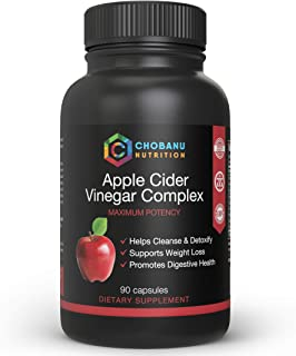 Apple Cider Vinegar Capsules for Healthy Weight Loss Diet Detox Digestion Keto Cleanser - With Vitamin B-6, Iodine, Spirul...