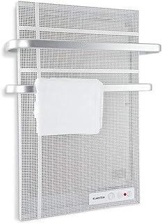 Klarstein Hot Spot Wave Panel infrarrojo - Calefactor infrarrojo, Radiador de pared, 51 x 80 cm, 20 m², 1000 W, Termostato, Portatoallas, Protección antisalpicadura, Aluminio, Plateado