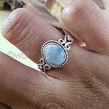larimar ring, 925 sterling silver, bohemian jewelry, designer handmade jewelry, filigree design ring, larimar woman's engagement ring, valentine's day gift ring, woman dainty ring, designer ring
