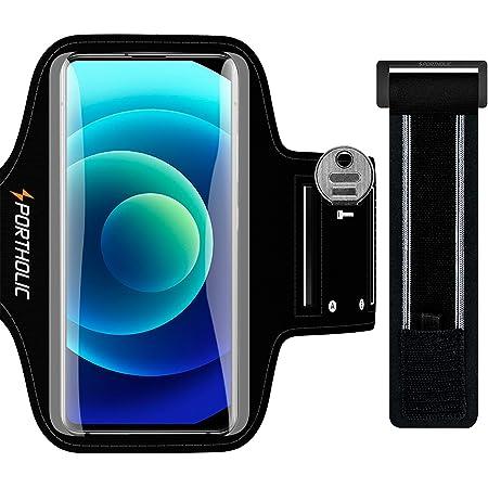 """PORTHOLIC Fascia Braccio per Smartphone, Porta Telefono Corsa Cellulare Correre per iPhone 12 11 Pro/Max/X/XS/8p/7p,Galaxy S20/10+/9+/8+, Huawei P40/30/20 Lite, Xiaomi Redmi mi 9 etc, 6,9"""""""