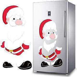 Snowman Refrigerator Magnets Set of 7,DIY Cute Funny Fridge Magnet Refrigerator Stickers for Garage Door Christmas Decorat...