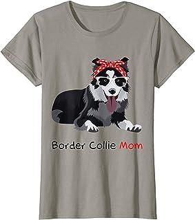 Border Collie Mom Bandana Womens Border Collie Dog T-Shirt