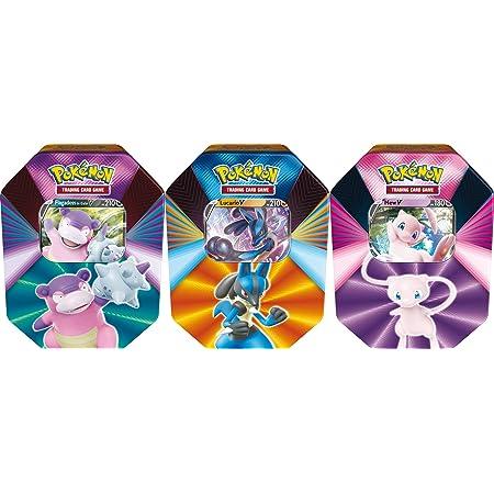 PoKéMoN Pokébox Février 2021 - Jeu de Cartes à Collectionner (Modèle aléatoire Flagadoss de Galar - V ou Lucario - V ou Mew - V) POB39 Multicolore