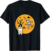 Saint Bernard Halloween Costume Skeleton Bone | Dog Owners T-Shirt