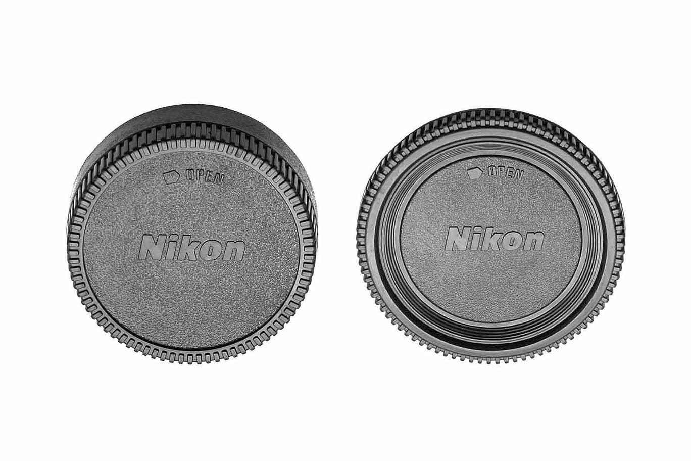 オーブンアプローチ燃料ガジェットPlaceカメラボディキャップとリアレンズキャップfor Nikon d7500