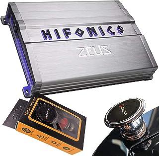 $159 » Hifonics ZG-2400.1D 2400 Watts Zeus Gamma Mono Subwoofer Car Audio Amplifier with Gravity Magnet Phone Holder