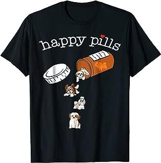 Happy Pills Shih Tzu Tshirt, Shih Tzu Lovers Gift