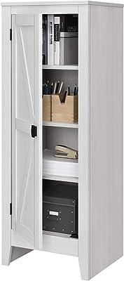 Amazon.com: Inval America 4 Door Microwave Storage Cabinet ...