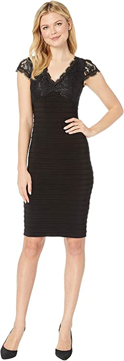 Lace Top Banded Sheath Dress