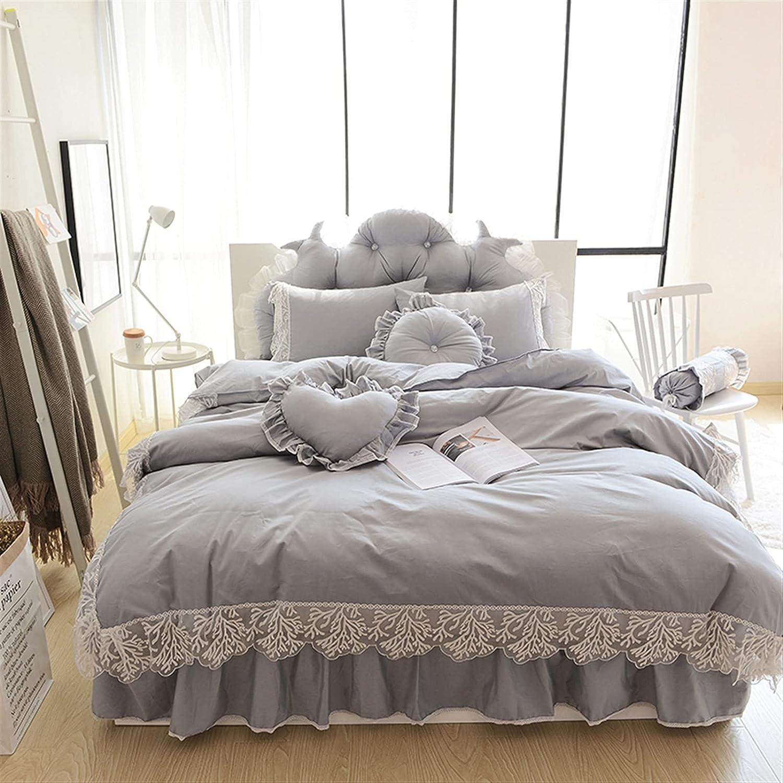 Manufacturer OFFicial shop ZHANGZJ Bed Sheet Lace Bedspread Queen Kin Princess shopping Bedding Sets