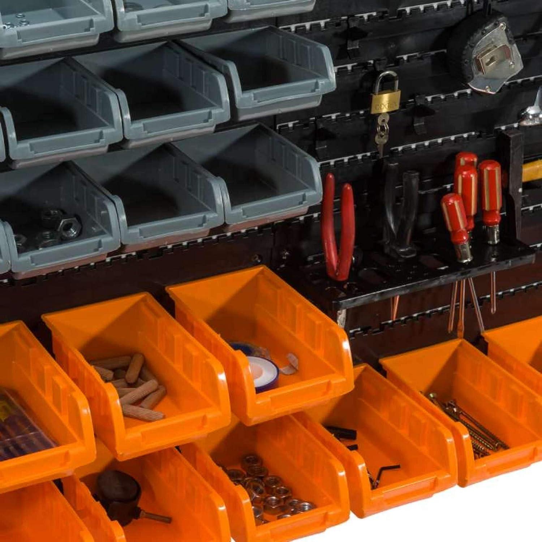 WerkaPro 10842 Wandpaneele mit Auslauf Werkzeughalter 2 Platten 28 F/ächer