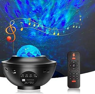 Bojim Projecteur Ciel Étoile, Lumiere LED pour Chambre avec Télécommande, Minuterie et Haut-parleur Bluetooth, Lampe Proje...