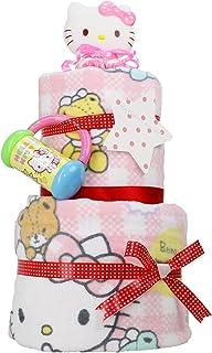 サンリオ ハローキティ 女の子 キティちゃん 出産祝い 2段 バスタオル おむつケーキ パンパース テープタイプ S Hello Kitty