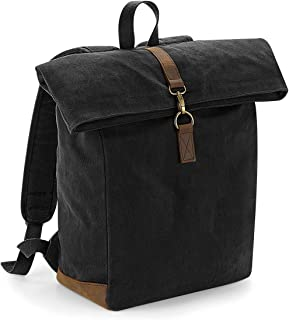 Quadra Heritage Waxed Canvas Leather Accent Backpack
