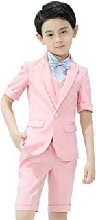Iyan Boys Short Suits 5 Piece Slim Fit Suit for Boys