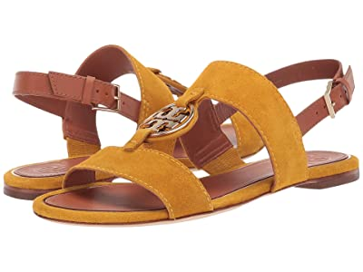 Tory Burch Metal Miller Two Band Sandal (Goldfinch/Gold) Women