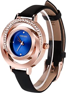 AIKURIO Ladies' Stylish Watch Analog Quartz with Leather Strap 30M Waterproof AKR002