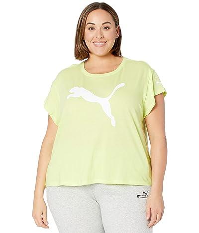 PUMA Plus Size Active Logo Tee (Sharp Green/Puma) Women