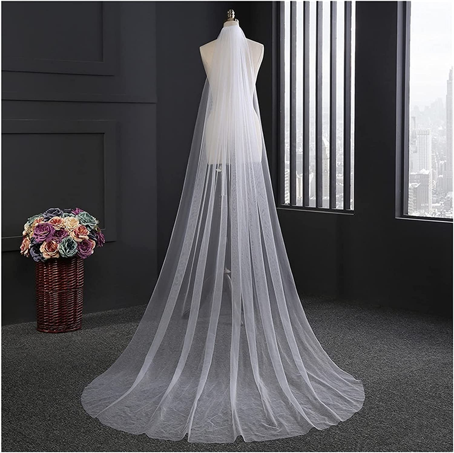 YYOBK Ts Wedding Long 3m 2m Import Two-Color White Veil Ivory Bridal Cash special price O