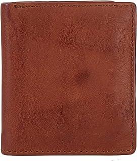 KOMPANERO Genuine Leather Men's Wallet - COGNAC