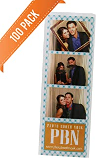 100 Photo Booth Bookmark Sleeve Strip Protectors for 2