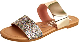 Bebe Girls' Metallic and Glitter Sandals (Toddlers/Little Kid/Big Kid)