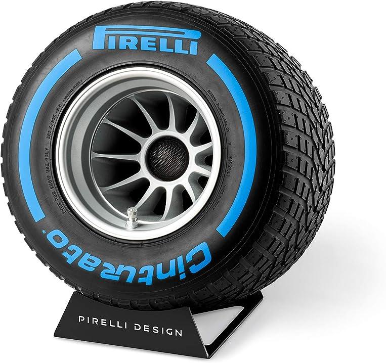 Impianto audio da interno ricavato da uno pneumatico f1 originale pirelli in scala 1:2 IXT18PZ008