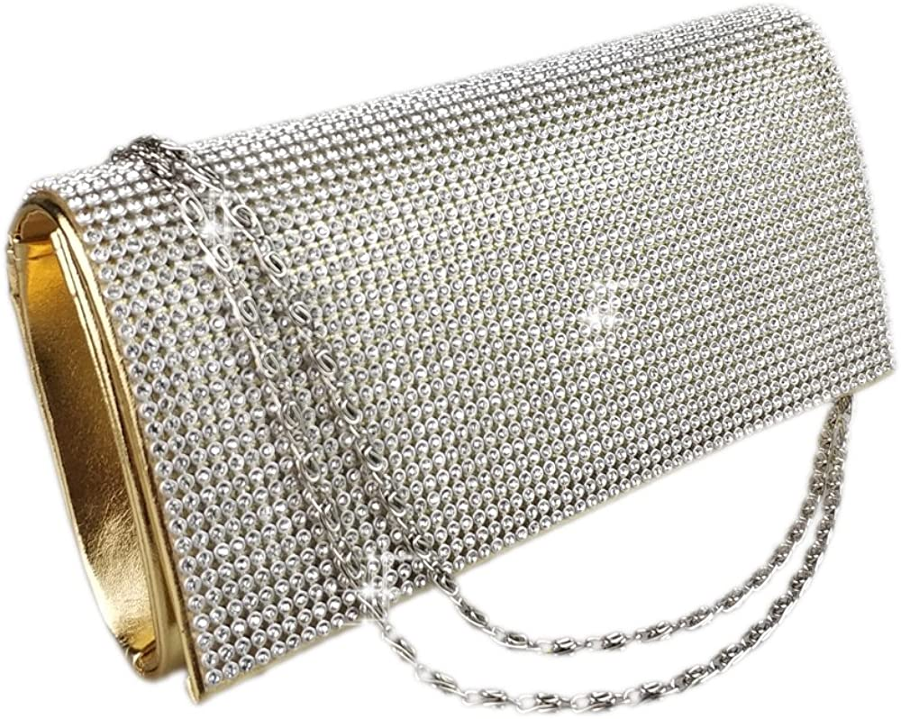 AITING Evening Bag Shimmering Diamond Crystal Clutch Purse Party Wedding Prom