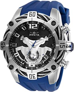 Invicta Men's Bolt Stainless Steel Quartz Watch with Silicone Strap, Blue, 32 (Model: 27372)