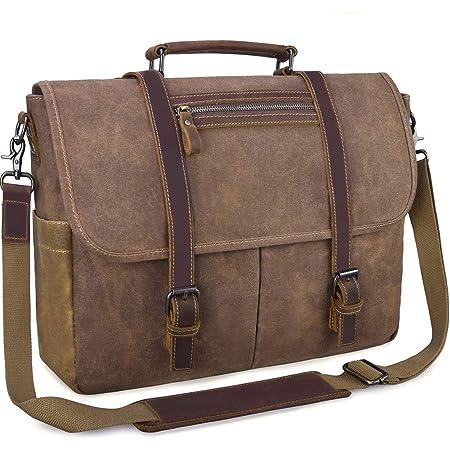 Herren Groß Tasche Umhängetasche Schultertasche Messenger Bag Arbeitstasche Neu