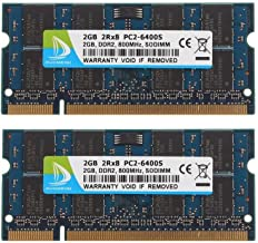 DDR2 800 PC2-6400, DUOMEIQI DDR2 4GB Kit (2x2GB) 2RX8 CL6 1.8V RAM Memory Chips for Laptop