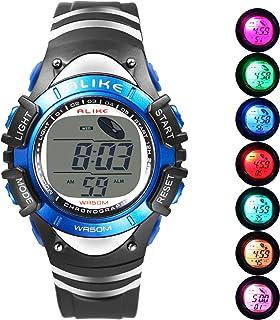 Boys Digital Sport Watch, Kids LED Electronic Waterproof...