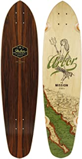 Arbor Mission Groundswell Skateboard Deck, Nocturnal, 35