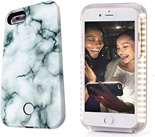Selfie Phone Case compatible with iPhone 6 Plus/6S Plus,LNtech Rechargeable LED Light Up Flash Lighting Selfie Case Illuminated Cover (Stone Green, iPhone6 Plus/6S Plus)