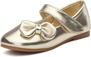 DREAM PAIRS Angel-5 Vestido de niña pequeña Bailarina Mary Jane Flats Shoes